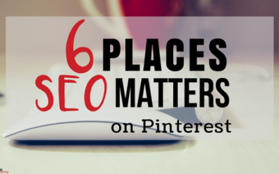 6 Places SEO Matters on Pinterest