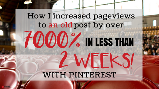 How I Increased Pageviews On 1 Post by Over 7000% in Less Than 2 Weeks