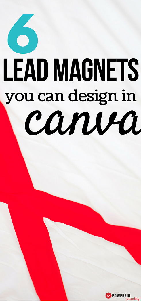 6 Lead Magnet Ideas to Design in Canva! A good design will encourage your readers to learn more!  See examples of 6 different optins you can design using Canva to increase your subscribers